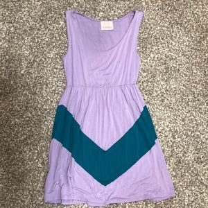 Dresses & Skirts - casual purple and teal dress